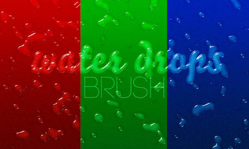free water drop brushes