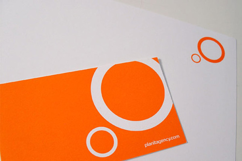 Orange Business Card Very Useful