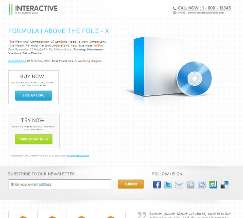 interactive the landing page