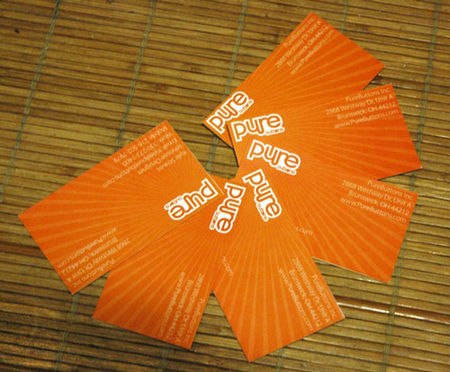 Orange Business Card So Fascinating