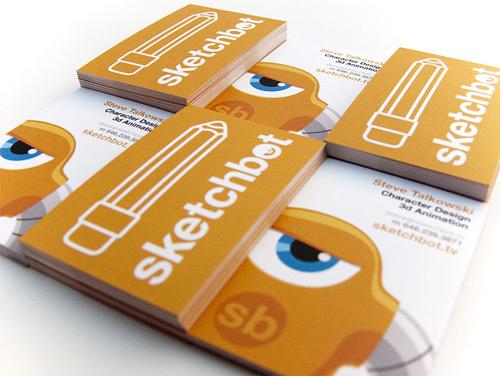 Orange Business Card So Inviting