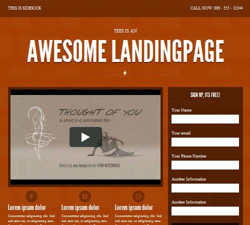 sidekick landing page