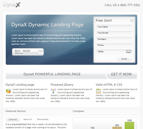 dynax landing page