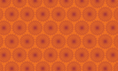 For Retro Floral Orange Pattern