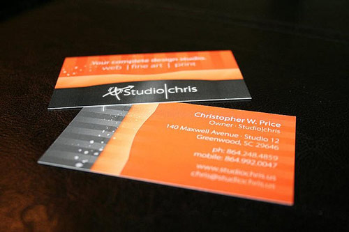 Indeed Captivating Orange Business Card