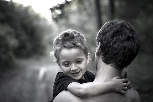 Fun Father and Child Photo
