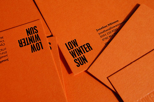 Perfectly Orange Business Card