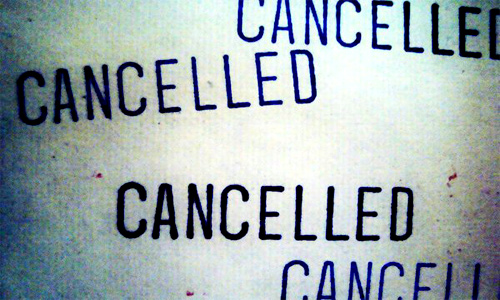 cancellation of projects