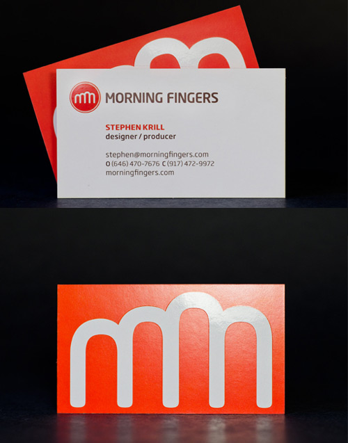 Simply Creative Orange Business Card