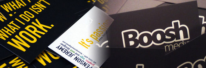 35 Examples of Typographic Business Card Designs