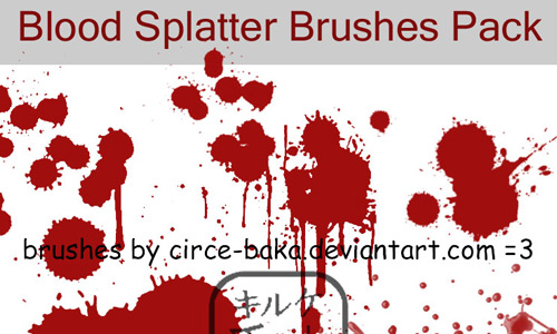 Entiringly Amazing Blood Brushes Set