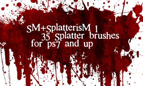 Splattering Cool Blood Brushes