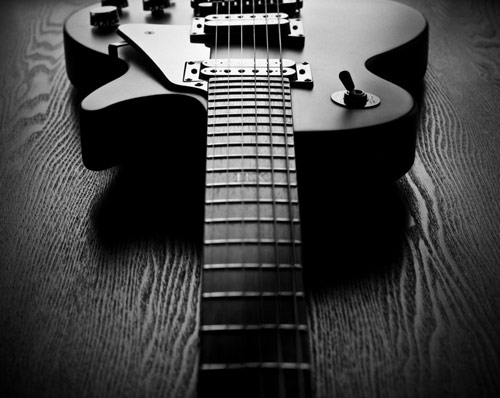 Lifeless Yet Beautiful Guitar Photo