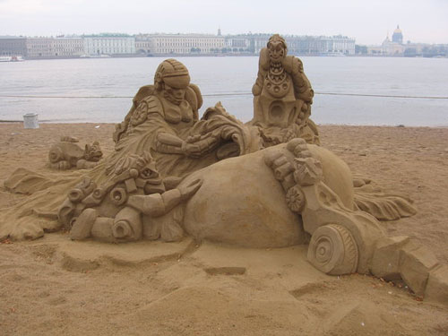Well-Defined Artwork in Sand