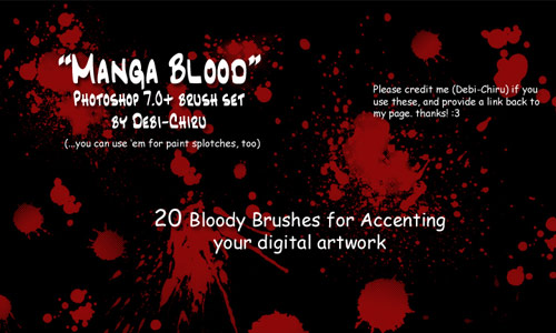 Nice Though Spooky Blood Brushes