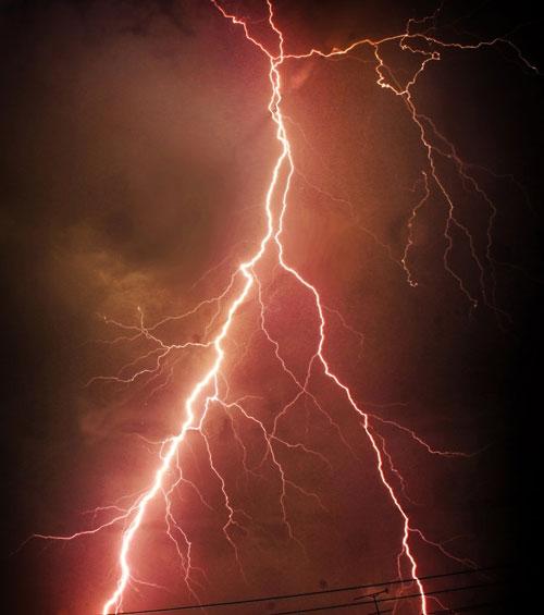 Striking Thunder Storm Photo