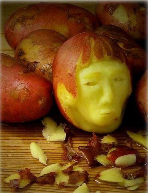 Potato in Food Art