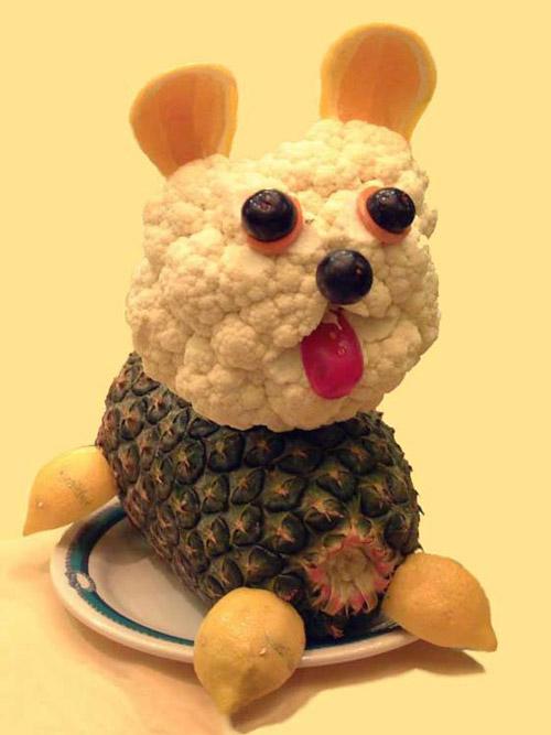 Barking Dog on Food Art