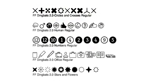 FF Dingbats 2.0 Volume