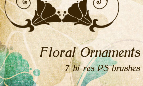 Vintage Yet Cool Floral Photoshop Brushes