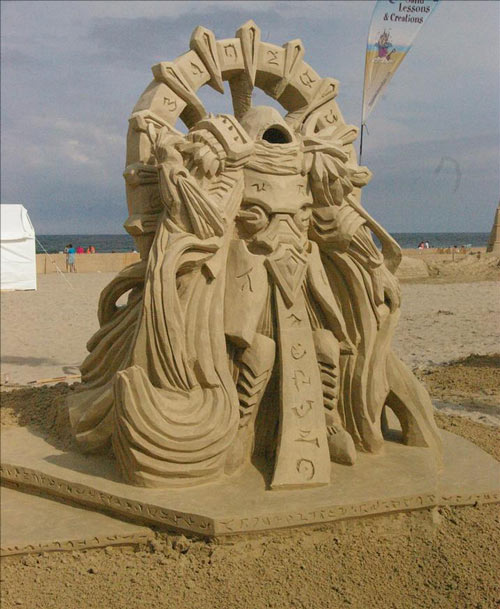 Sand Sculpture in Victory