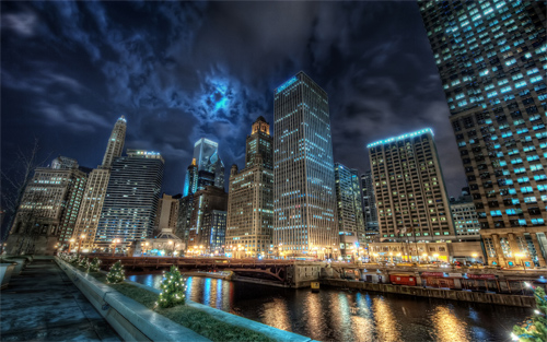 Chicago Cityscape (HDR)