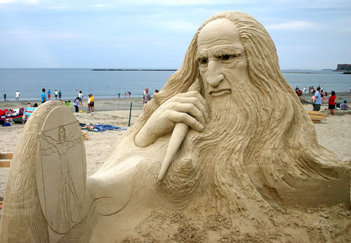 Impressively Detailed Sand Sculpture