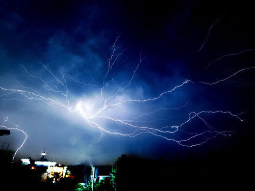 So Creepy Thunder Storm Photo