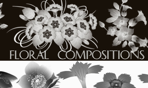 Composed Photoshop Floral Brushes