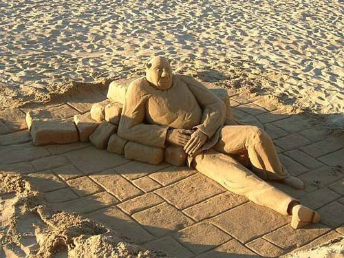 Movie Like Sand Sculpture