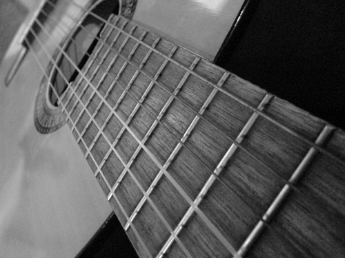 Ready To Play Guitar Photo