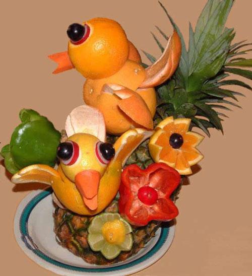 Birds on Food Art