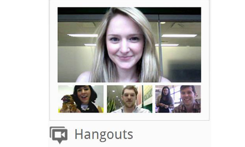 Hangouts to build social relationships with fellow designers
