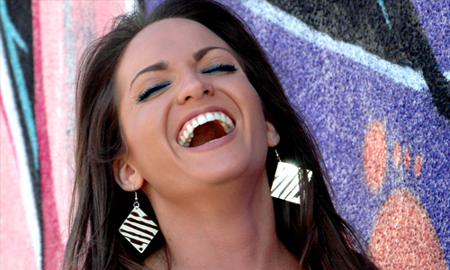 Laugh and have a positive outlook in life