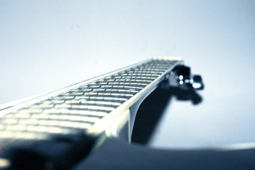 Amazingly Angled Guitar Photo