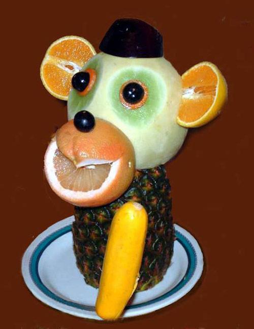 Monkey on Food Art