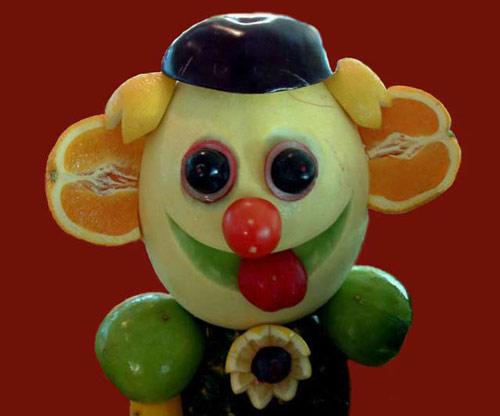Funny Clown on Food Art