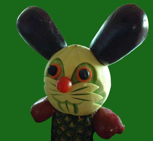 Cute Rabbit on Food Art