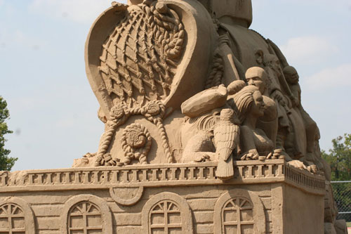Really Cool Pirates Sand Sculpture