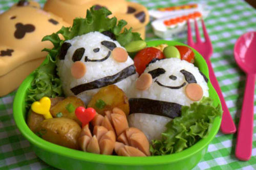 Panda for Lunch on Food Art