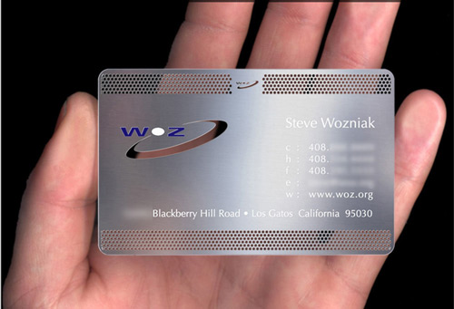 Worth Keeping Metallic Business Card