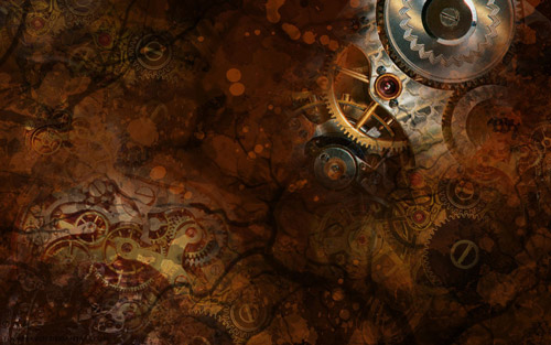 Vintage Yet so Nice Steampunk Wallpaper
