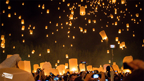 sky lantern pictures