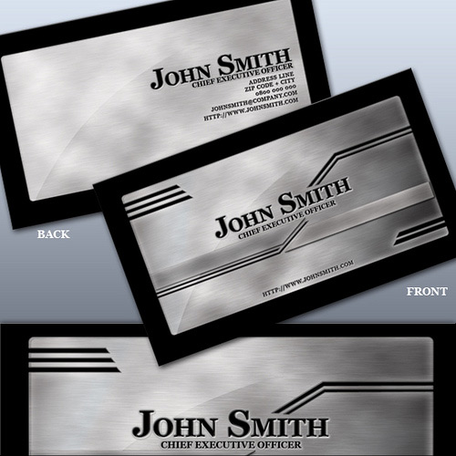 Really Elegant Metallic Business Card