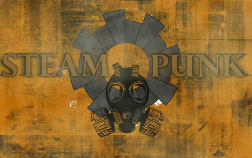 Very Industrial Steampunk Wallpaper