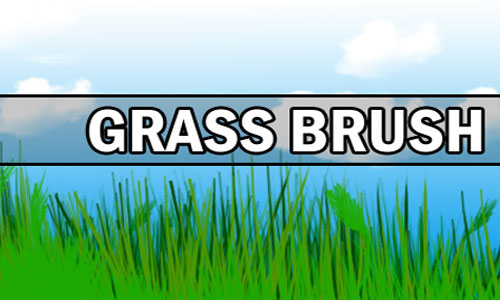 Really Cool Set of Grass Photoshop Brushes