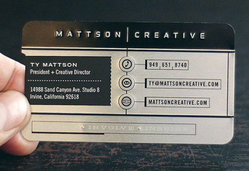 Eventually Eye-Catching Metallic Business Card