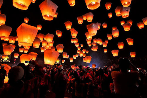 Just so Awesome Sky Lantern Photo.