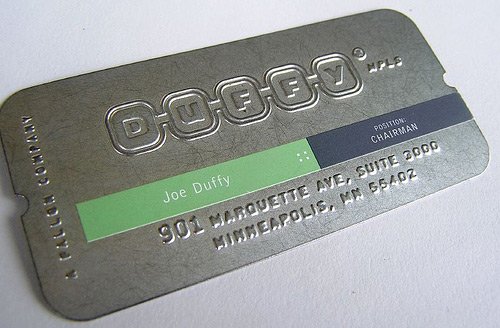 Attractively Cute Metallic Business Card