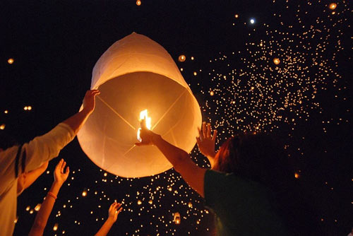 Really Creative Set of Sky Lanterns.